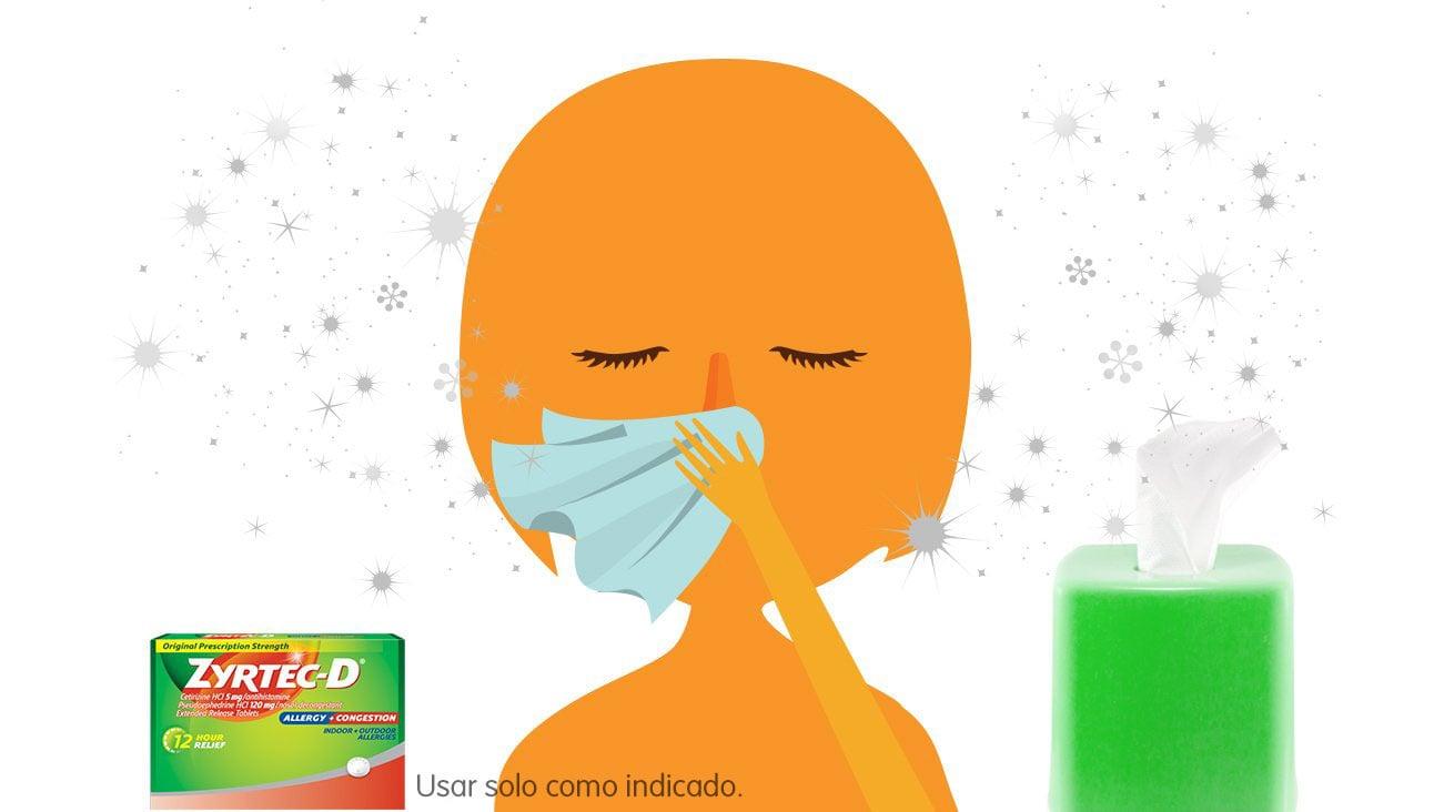 Evita limpiarte la nariz y encuentra alivio para la congestión conZYRTEC-D