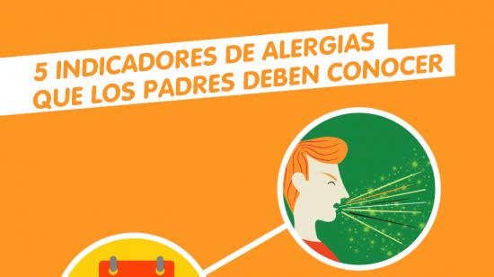 Cinco síntomas de las alergias que los padres deben conocer